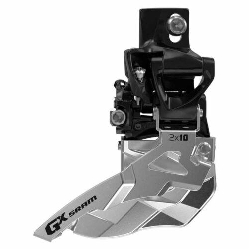 SRAM GX 2x10 Front derailleur 2X10sp Top Swing Dual Pull 31.8//34.9mm Clamp