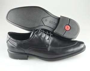 Para hombres Cuero Negro ECCO 'Cairo' Delantal Toe Oxford tamaño nos 13