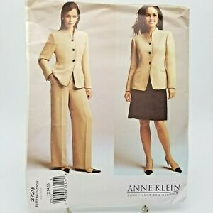 Vogue Suit Pants Skirt Dress Jacket Sewing Pattern 2729 Size 12 14 16 Anne Klein