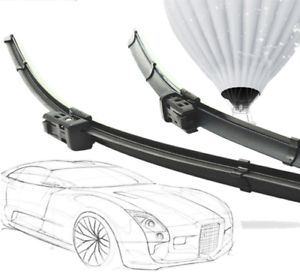 2 x 650,380 hallenwer limpiaparabrisas oscilante con adaptador sistema adaptador Aero