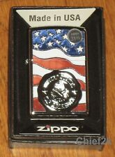 Zippo Lighter America Stamp on Flag 29395