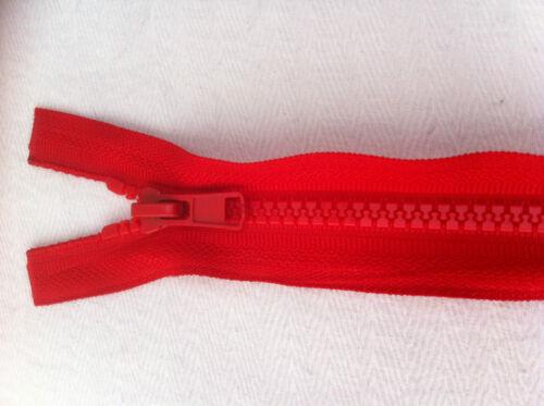 Nouveau grosse extrémité ouverte les fermetures à glissière en plastique moulé Dents De £ 1.95 Free PP Top Qaulity