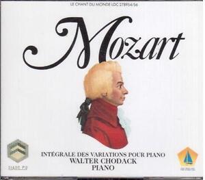 Mozart: Integrallenker Der Variation Für Klavier / Walter Chodack - CD
