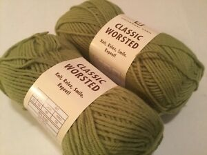 2-SKEINS-UNIVERSAL-YARN-LINDEN-GREEN-3-5-OZ-197-YDS-EA-WOOL-ACRYLIC-BLEND