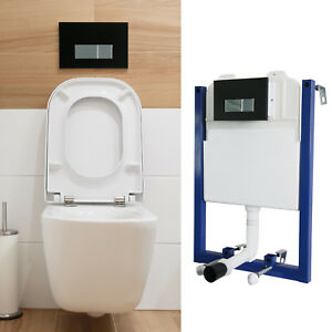 Concealed Cistern Water Tank Rack Dual Flush Wall Hang Toilet ... on
