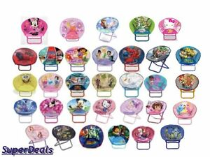Disney And Nickelodeon Character Kids Mini Saucer Chair Toddler Seating Ebay