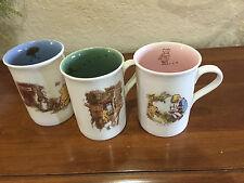 DISNEY WINNIE THE POOH & FRIENDS EH SHEPARD SIGNATURE LOT 3 Ceramic MUGS