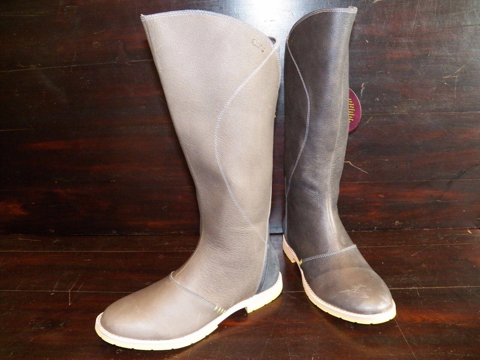 New Damenschuhe Ahnu Equestrian Helena Pewter Leder Suede Tall Riding Equestrian Ahnu Knee Stiefel 3fdf06