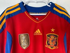 Details about Spain Soccer Jersey - 2010 FIFA World Cup Champions - Adidas - Boys Medium - Red