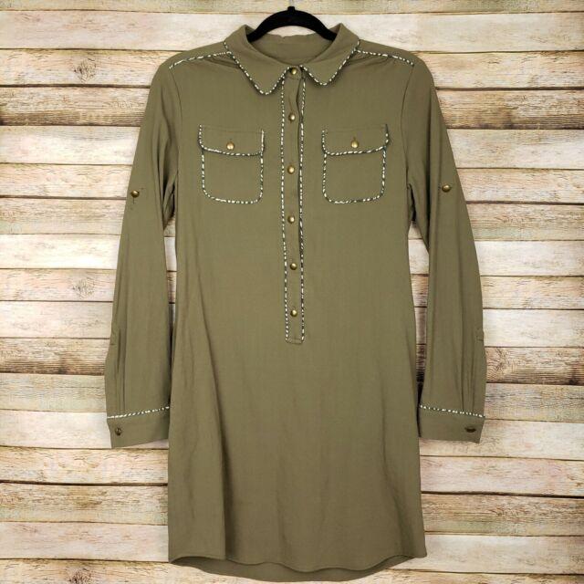 BANANA REPUBLIC Heritage Collection Knee Length Shirt Dress Size 6 Womens