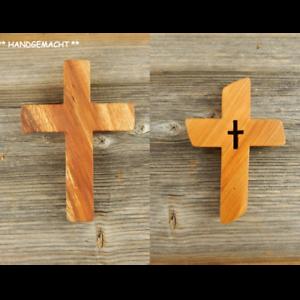Kreuz-Wandkreuz-Kruzifix-Holzkreuz-Jesus-Kirschholz-HANDGEMACHT-Geschenk