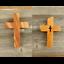 Kreuz-Wandkreuz-Kruzifix-Holzkreuz-Jesus-Kirschholz-HANDGEMACHT-Geschenk Indexbild 1
