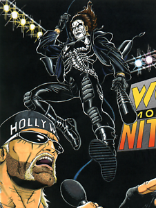 Hollywood-Hogan-V-Sting-WCW-Nitro-Wrestling-Poster-Print-8x10-UK-A4-Hulk