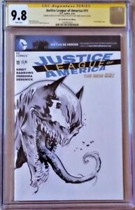 DC-Comics-JUSTICE-LEAGUE-11-CGC-SS-9-8-Original-Sketch-VENOMIZED-BATMAN-Lashley