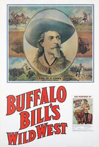 Original-Vintage-Poster-Buffalo-Bill-039-s-Wild-West-Book-Launch-Western-Cowboy-USA