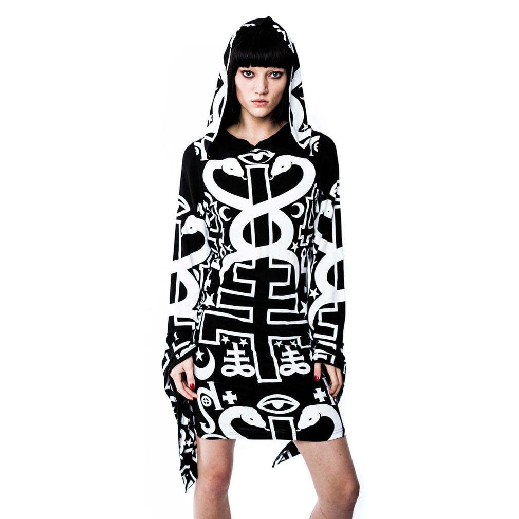Killstar gótica GOTH ocultismo capucha  vestido Spiritus Sorcery Hoodie runas serpiente  la calidad primero los consumidores primero