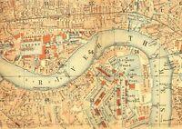 Vintage London Map - Vintage Art Print Poster - A1 A2 A3 A4 A5