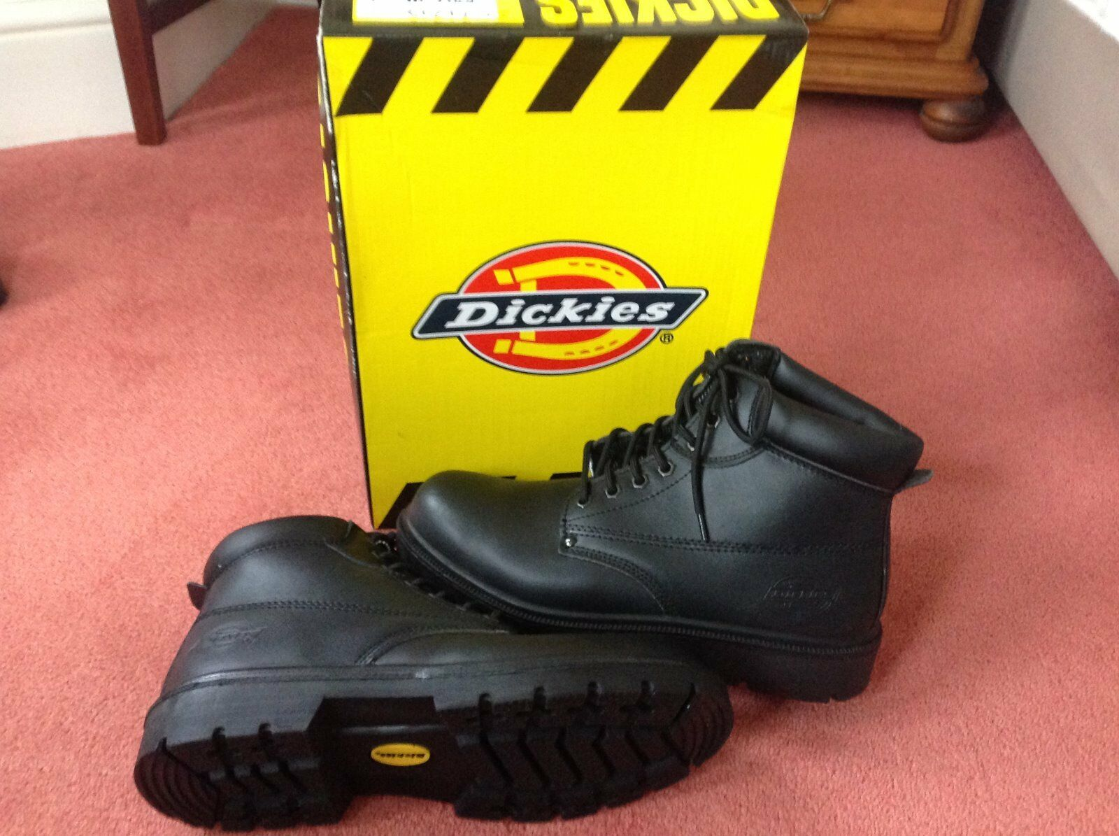 Dickies Steel Toe Capped Work Boots - Antrim - Black - Size 10