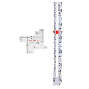2pcs-2-034-6-034-Sewing-Knitting-Gauge-Measuring-Rulers-Quilters-Patchwork-Craft