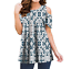 Women-Floral-Cold-Shoulder-T-Shirt-Casual-Loose-Tops-Summer-Blouse-Tee-Plus-Size thumbnail 16