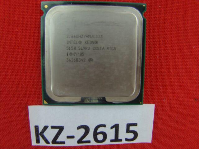 Intel Xeon 5150 SL9RU 2.66GHz 2667mhz 1333MHz 4mb zócalo 771 Dual Core #kz-2617