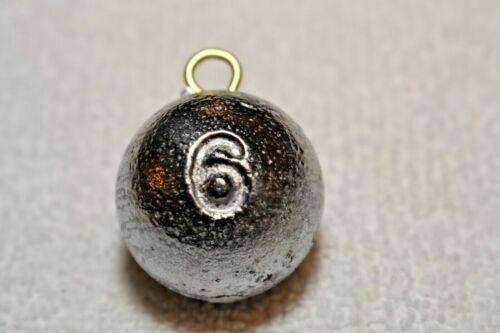 Cannonball ronde pêche plomb environ 170.09 g 6 oz 14 Lests-LIVRAISON GRATUITE