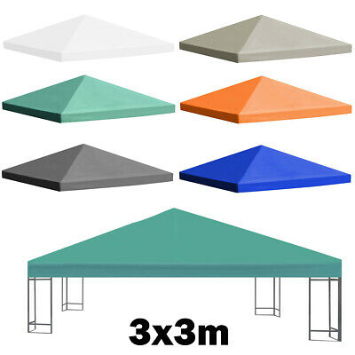 3x3m Gazebo Cover 2-tier Canopy Replacement 310g//m² square Garden Top Cover Tent