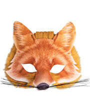 Adult's Cute Wild Farm Animal Red Fox Mask Costume Accessory