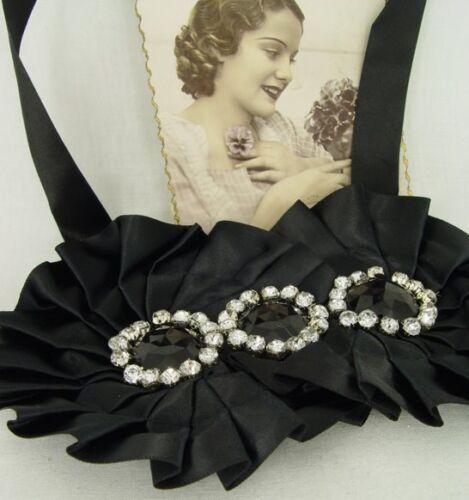 Vintage Halsschmuck nostalgische Halskette 20er Jhare Stil Collier Strass Steine