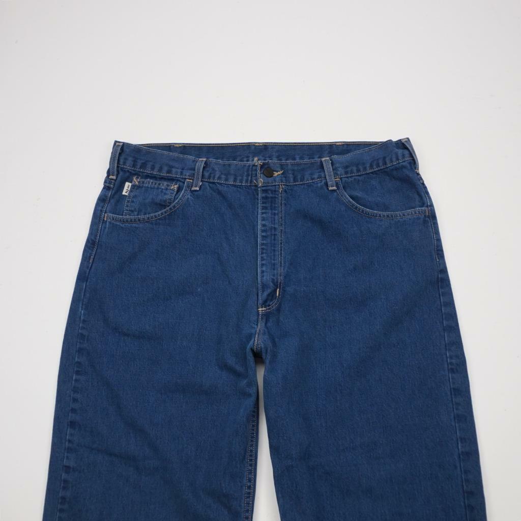 CARHARTT FRB 100 Fire Resist Relaxed Fit Jeans Dark Wash Denim Mens 40x32