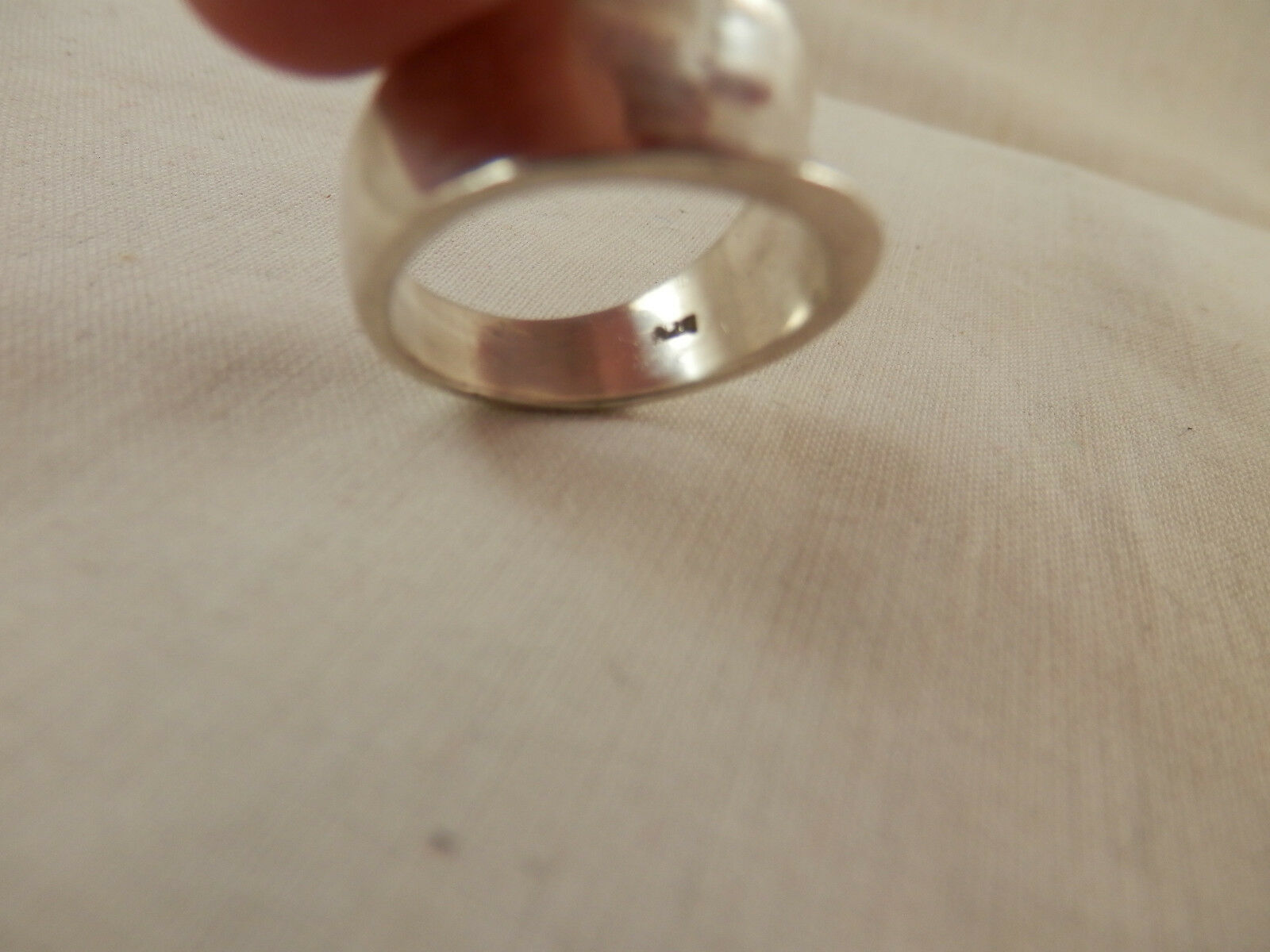 Genuine sterling silver ring solid hallmarked 925 11mm  wide plain band R001819