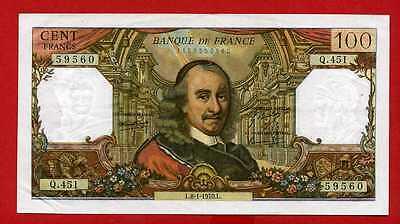 (ref: Q.451) 100 Francs Corneille 8/01/1970 (sup-)
