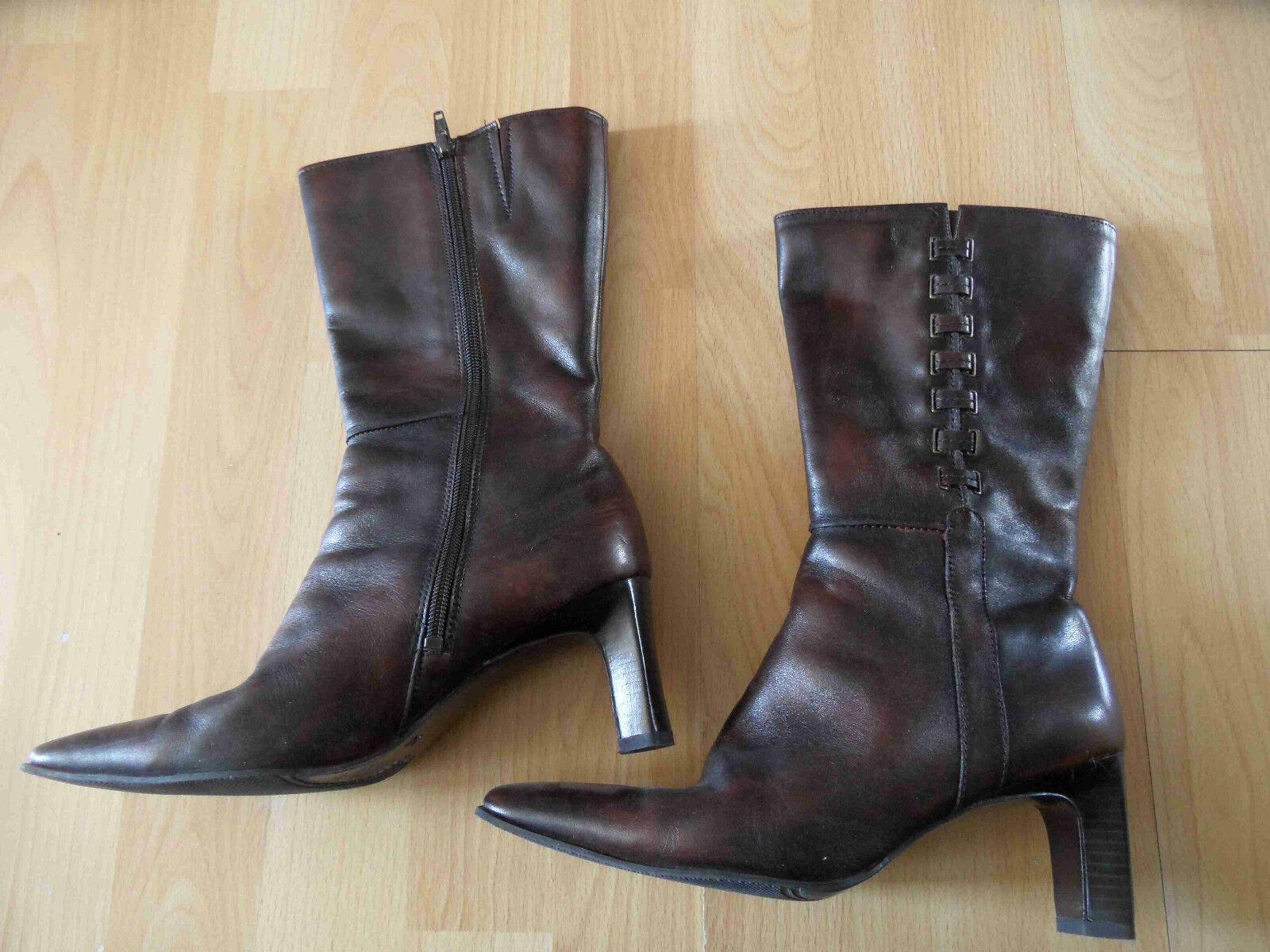 BELLISSIMA schöne Stiefel Antikbrown Gr. 37 TOP RJ316