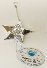 3912W-SL Stern m. Kette Star w. Chain Swarovski Components Kristall white Silber