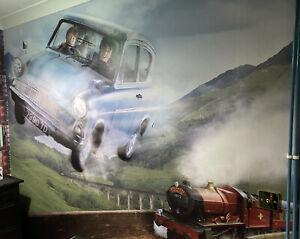 Harry Potter Flying Car Wall Mural Wallpaper Brand New Ebay