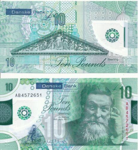 Ireland North 10 Pounds 2017 UNC Lemberg-Zp Danske Bank