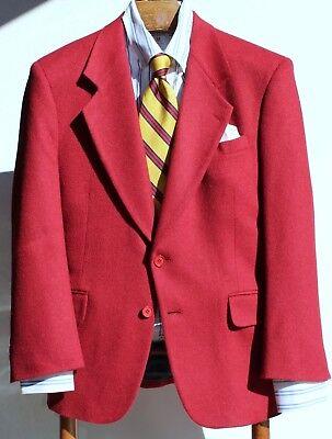 Bachrach 38S Gentleman's Solid Dark Red Camel Hair 2-Button Blazer / Sport Coat-