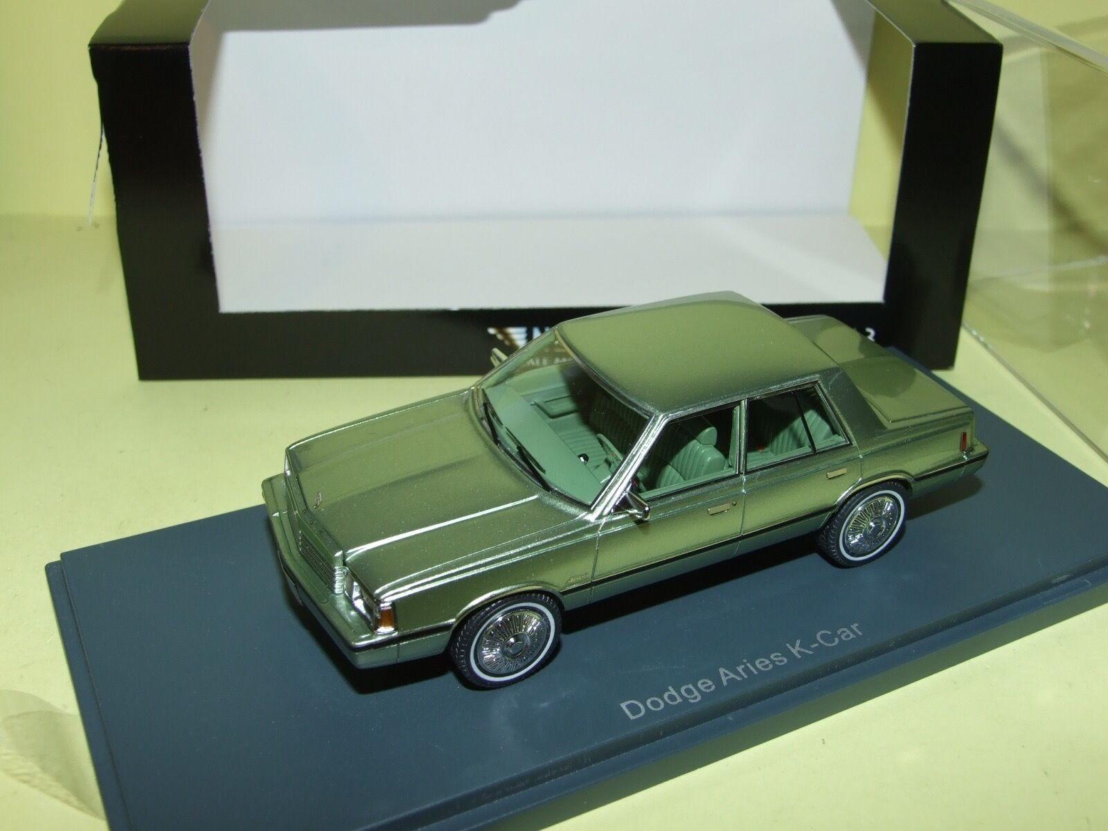DODGE ARIES K-CAR verde NEO 1 43
