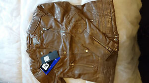 XL di donna da scura Premium di pecora in qualità pelle nera taglia Giacca w7dq0w