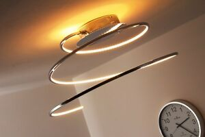 Plafonnier moderne led design spirale lustre lampe for Lampe led exterieur design