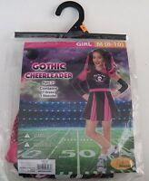 Gothic Cheerleader Children Costume Girls Size Medium 8-10 Halloween Seasons