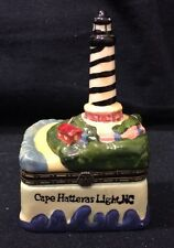 Faience Mini Casket Cape Hatteras Lighthouse