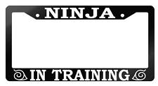 Glossy Black License Frame Ninja In Training Auto Accessory Naruto