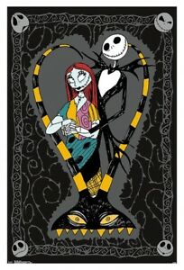 Details About Nightmare Before Christmas Jack And Sally Couple Poster 22x34 Movie 16634