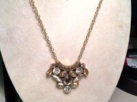 Barse Jewelry Bronze Multi Stone Shimmering Necklace