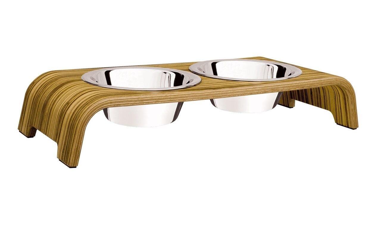 DogBar® S - Holz Holz Holz Eiche Zebrano Hundenapf Futterbar Futterstation  | Günstige Preise  1e72d6