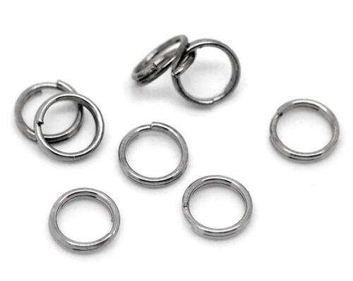 colier 6 mm Creation bijoux ... 100 Anneaux double de jonction Gunmetal 6mm