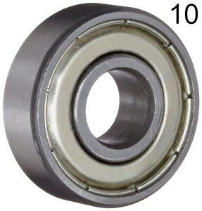 Ten-10-608ZZ-8x22x7-Shielded-Greased-Miniature-Ball-Bearings