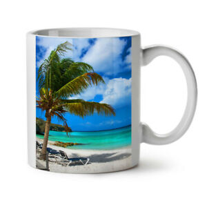 Beach Sea Sun Sky NEW White Tea Coffee Mug 11 oz | Wellcoda