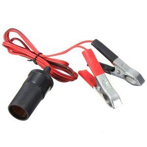 12V-Car-Auxiliary-Cigarette-Lighter-Socket-Battery-Crocodile-Clips-Adapter-KK